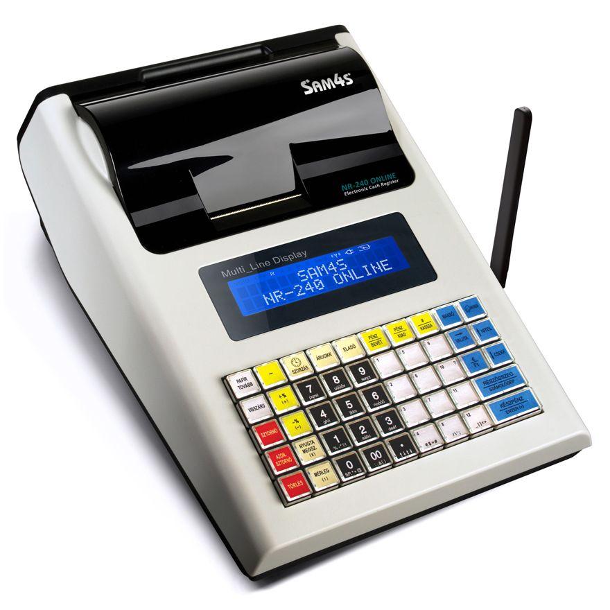 SAM4S NR 240 NEW Online Pénztárgép MKEH ENGEDÉLYSZÁM:A171